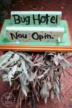 """Nature for kids: this backyard """"Bug Hotel"""" (or insect habitat) is now open! ~ Danya Banya"""