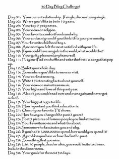 30 day blog challenge..I think I may start this soon?