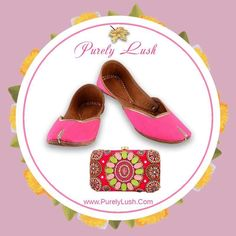 Glam your ethnic outfit with our Juttis, Jewelry and Clutches!!  Visit www.purelylush.com #juttis #jutti #weddingtime #juttilove #pink #clutches #jewellery #earring #necklace #indian #handmade #handcrafted #handembroidery #bigfatindianwedding #punjabi #punjabiwedding #purelylush #bridal #bridesmaids #picoftheday #pictureoftheday #onlineshopping #shippingalloverindia #worldwideshipping