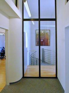 Glastür mit Stahlrahmen, pulverbeschichtet alpers-metallbau  Feldkirchen Diele/Flur  Pinterest ...