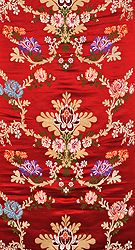 Burgundy Tibetan Lotus Brocade