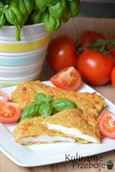 Piersi z kurczaka w cieście czosnkowo-ziołowym, filety z piersi kurczaka w cieście czosnkowym z ziołami, soczyste piersi kurczaka w cieście naleśnikowym
