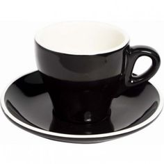 Fortis Prima Cappuccino Cup Black 180ml (Only)