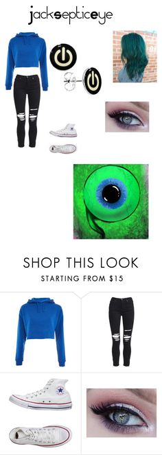 """""""JACKSEPTICEYE"""" by ilovecrankgameplays ❤ liked on Polyvore featuring Topshop, AMIRI and Converse"""