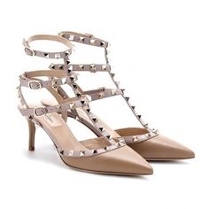 valentino rockstud shoes medium height - Google Search