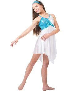This would be such a beautiful lyrical costume! I want this so badly! Lyrical Costumes, Dance Costumes Lyrical, Lyrical Dance, Ballet Costumes, Dance Outfits, Dance Dresses, Girl Outfits, Praise Dance Wear, Dance Hairstyles