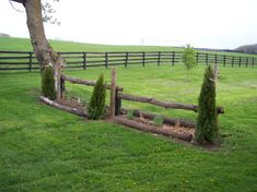 Trakehner without actual ditch. This could work in our yard.