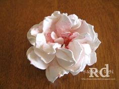 Rose's World: Peony Flower Tutorial! Uses SU's Blossom Party die.