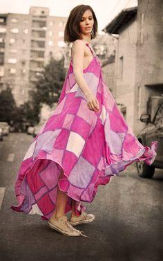 Flower Power Handmade Dresses, Flower Power, High Low, Flowers, Fashion, Moda, La Mode, Fasion, Royal Icing Flowers