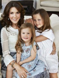 Isabella and Josephine of Denmark with their mother Crown Princess Mary 2014