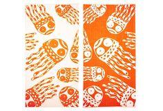 Matthew Langille Jellyfish Towel, Orange