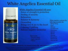 Young Living White Angelica Essential Oil: Security, Protection Strength Many people use it as protection against negative energy. White Angelica works great applied to shoulders. My Essential Oils, Young Living Essential Oils, Essential Oil Blends, Healing Oils, Aromatherapy Oils, Natural Healing, Natural Cures, Natural Oils, Belleza Diy
