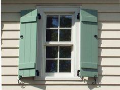 Board And Batten Exterior Window Shutters Inspiration Ideas 11693 Ideas Design Window Shutters Exterior, Outdoor Shutters, House Shutters, Diy Shutters, Interior Shutters, Exterior Siding, Exterior Design, Interior And Exterior, Cottage Shutters