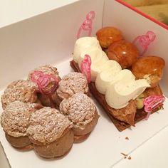 Au goûter ce sera Saint-Honoré et Paris-Brest de chez @lpdr_paris  #lpdr#paris#pastry#delicious#cute#miam#parisbrest#sainthonore#cream#sugar#gouter#amazing#bonheur#happytime#eat#food#instaday#instafood#hungry#picoftheday#pink#sweet#tasty#yummy#lapatisseriedesreves#conticini#patisserie#foodporn#parisbynini