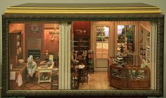 A double room French Patisserie in 1:12 scale exhibited by Angelika Oeckl at the Fall 2010 Seattle Dollhouse Miniature Show.