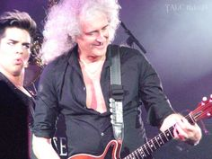 Brian May & Adam Lambert, London show, 14th July 2012 | Source: Tuke18
