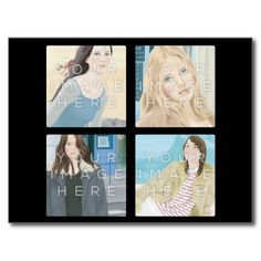 Instagram 4 Photo Personalized Postcard Designs #colorbindery #zazzle #customizable #giftideas