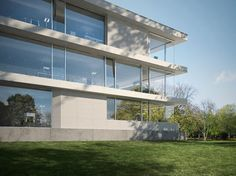 Structural glass can be used as a fantastic alternative to a traditional façade system.  http://qoo.ly/j8f7h