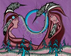 Friends United by Rolf Bouman Native Art, First Nations, Nativity, Disney Characters, Fictional Characters, The Unit, Disney Princess, Friends, Ghosts
