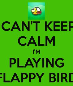 CAN'T KEEP CALM I'M PLAYING FLAPPY BIRD