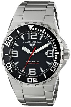 Swiss Legend Men's 10008-11 Expedition Analog Display Swiss Quartz Silver Watch * Read more reviews of the product by visiting the link on the image.