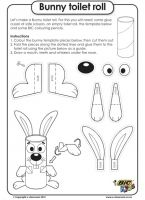 Bunny toilet roll - Easter Worksheet