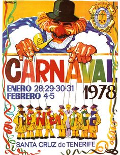 Cartel Carnaval Santa Cruz de Tenerife Año 1978