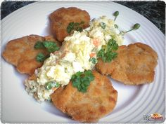 Zemiakový šalát bez majonézy | recept | RadVarim.sk Salads, Chicken, Recipes, Food, Diet, Red Peppers, Recipies, Essen, Meals