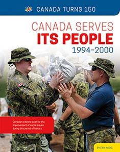 """Canada Pulls Together through Tough Times -- Building Toward the Future -- Changing Communities -- Constructing Canada -- Crossing Cultures -- Everyday Entertainment -- The Tragically Hip Sweeps through Canada -- Timeline -- Glossary -- To Learn More -- Index/About the Author. """"Canadian citizens push for the improvement of social issues during this period of history."""" Challenges And Opportunities, Social Change, Tough Times, Citizenship, Social Issues, Social Studies, Timeline, Period, Identity"""