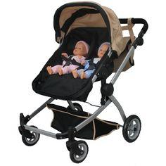 Babyboo SANDDeluxe Twin Doll Pram/Stroller with Swiveling Wheels Multi Function Baby Doll Car Seat, Baby Doll Play, Baby Dolls, Baby Doll Strollers, Pram Stroller, Toys For Girls, Kids Toys, Princess Toys, Baby Alive Dolls