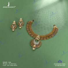 Get in touch with us on 990 444 3030 Real Gold Jewelry, Gold Jewelry Simple, Women Jewelry, Gold Jewellery, Jewelry Design Earrings, Fashion Jewelry Necklaces, Necklace Designs, Antique Jewellery Designs, Antique Jewelry