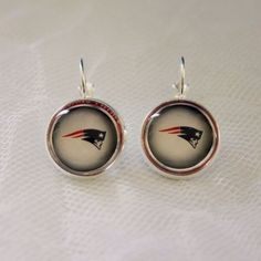 New England Patriot Earrings made from Football Trading Cards Great for Game Day…