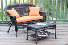 Wicker Loveseat Patio Set Outdoor Furniture Resin Rattan Bench ...