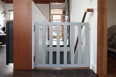 DIY baby gate with self closing hinges