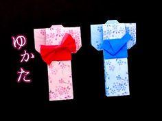 【かんたん折り紙】ゆかた(着物) Origami Yukata(Kimono) - YouTube Origami Box, Origami Easy, Origami Paper, Japanese Gifts, Japanese Paper, Summer Crafts, Diy And Crafts, Paper Crafts, Iris Folding