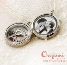 Celebrate your marriage! Origami OwlOrigami Owl-Put your wedding picture on the back of your locket.