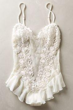 Flora Nikrooz Fleur Flutter Bodysuit #anthroregistry