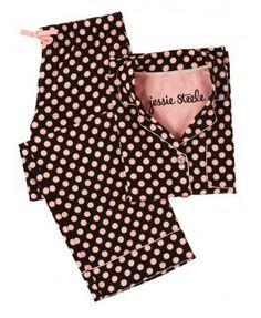 Brown and Pink Polka Dot Pajama Set Night Pajama, Pajama Day, Pajamas All Day, Cute Pajamas, Cute Sleepwear, Lingerie Sleepwear, Nightwear, Satin Pajamas, Pyjamas