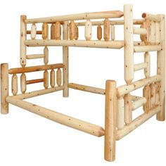 Twin Over Full Bunk Bed Rustic Pine Furniture Made In Usa Builder06 available at…