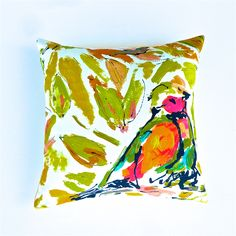 Bird Cushion Cover in Art Shades