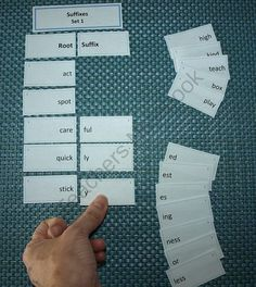 Suffixes Card Sort Activity from Virtually Montessori on TeachersNotebook.com - (9 pages) - This card sort activity is intended for practice creating words from roots and common suffixes.