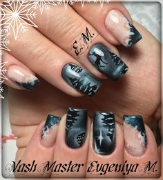 Фотография Xmas Nails, New Year's Nails, Holiday Nails, Hair And Nails, Almond Shape Nails, Almond Nails, Christmas Nail Designs, Christmas Nail Art, Crazy Nail Designs
