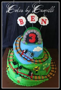 Thomas the Train Spiral Cake  By: sobanion
