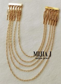 Chain Fringe Tassel Hair Comb; so easy to recreate; nice accent to a any do