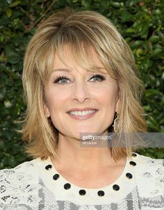 Cristina Ferrare attends the Summer TCA Tour - Hallmark Channel and Hallmark Movies And Mysteries on July 2015 in Beverly Hills, California. Get premium, high resolution news photos at Getty Images Haircuts For Medium Hair, Medium Hair Styles, Curly Hair Styles, Wand Hairstyles, Layered Hairstyles, Shaggy Short Hair, Hallmark Channel, Bangs, Hair Wand