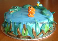 Coolest Homemade Alligator and Crocodile Cake Decoration Idea