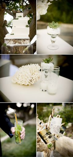 Love this modern wedding. Clean, simple and earthy.