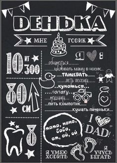 PartyJOY - Декор праздников постер достижений, постер на день рождения, меловая…