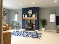 Vintage Blue Living Room Design Ideas You Must Have – Blue is one of the most popular favorite colors in the world. However, it often translates as masculine or like a baby boy's nursery when used in home decor. Navy Living Rooms, Living Room Lounge, Living Room Grey, Home Living Room, Interior Design Living Room, Living Room Designs, Chic Shadow Dulux Living Room, Chic Shadow Bedroom, Dulux Paint Colours Living Room