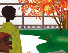 Cover illustration for Kamakura Guide map autumn issue. Choju-ji rock garden in autumn. Kamakura, New Work, Adobe Illustrator, Profile, Behance, Photoshop, Map, Gallery, Cover